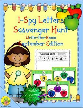 I-Spy Letters Scavenger Hunt - Color by Code (September Edition)