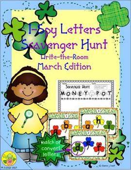 I-Spy Letters Scavenger Hunt (March Edition)