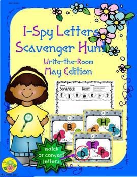 I-Spy Letters Scavenger Hunt - Color by Code (May Edition)
