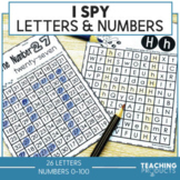 Letter and Number Recognition Activities and Worksheets Bu
