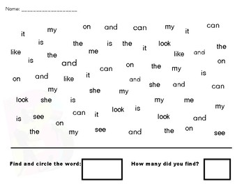 I Spy Letters and Sight Words!