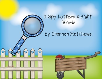 I Spy Letters and Sight Words