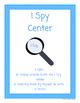 I Spy Library Center