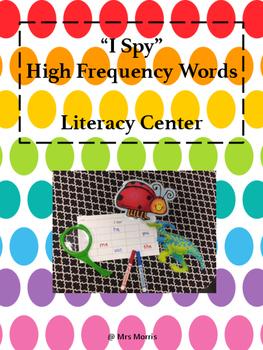 I Spy Literacy Center FREEBIE
