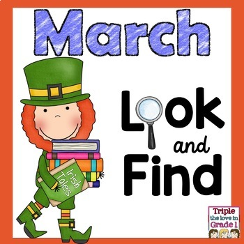 """""""I Spy"""" March Edition (March Words & Sight Words)"""