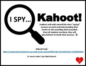 I Spy Math 7 Review with Kahoot!