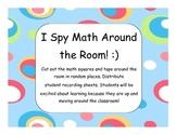 I Spy Math Around the Room