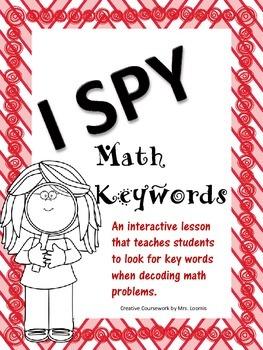 I Spy Math Key Words