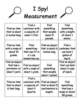 I Spy! Measurement