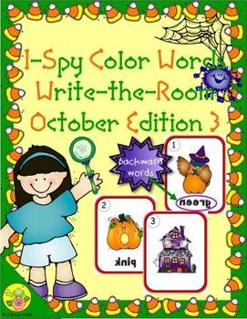 I-Spy Mirror Color Words (October Edition) Set 3