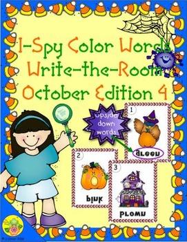I-Spy Mirror Color Words (October Edition) Set 4