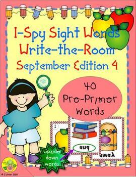 I-Spy Mirror Sight Words - PrePrimer (September Edition) Set 4