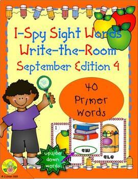 I-Spy Mirror Sight Words - Primer (September Edition) Set 4