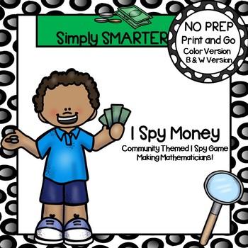I Spy Money:  NO PREP Community Themed I Spy Activity