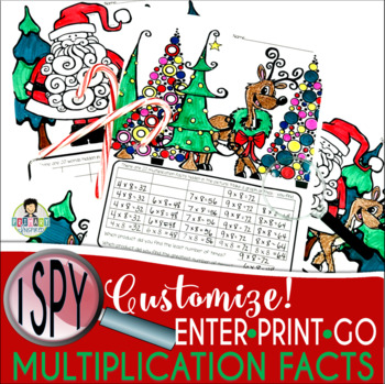 I Spy Multiplication Facts ~Christmas Edition~