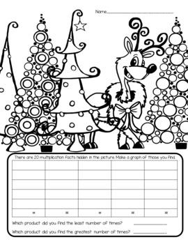 I Spy Multiplication Facts ~Christmas~ CUSTOMIZABLE!