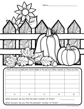 I Spy Multiplication Facts ~Fall Edition~