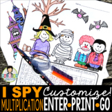 I Spy Multiplication Facts ~Halloween~ CUSTOMIZABLE!!