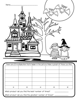I Spy Multiplication Facts ~Halloween~ CUSTOMIZABLE!!