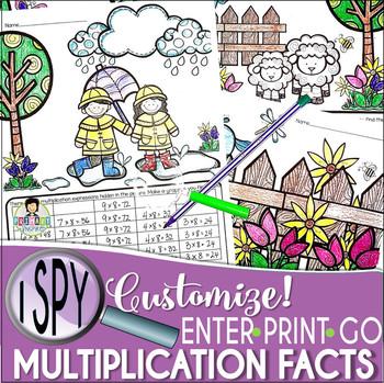 I Spy Multiplication Facts ~SPRING! Edition~