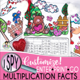 I Spy Multiplication Facts ~Valentine~ CUSTOMIZABLE!