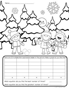 I Spy Multiplication Facts ~Winter Edition~