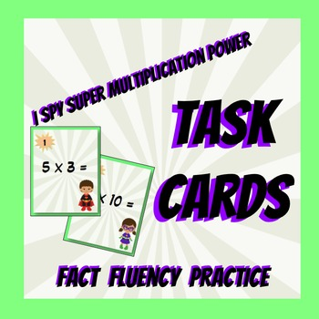I Spy Multiplication Power Task Cards