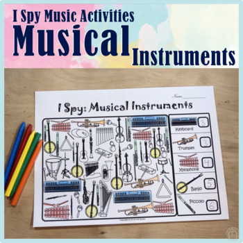 I Spy Musical Instruments Coloring Games