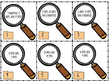 I Spy Mystery Numbers - a place value game