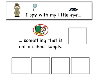 I Spy - Non-Examples {an adapted book for children with autism}