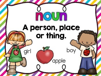 I Spy Nouns, Verbs and Adjectives