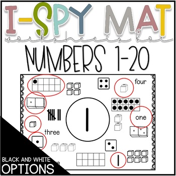 I Spy Number Mats, Numbers 1-20