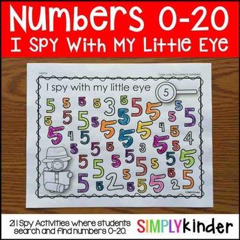 I Spy Numbers 0-20