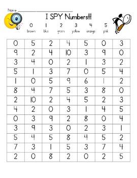 I Spy Numbers 0-5