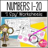 Numbers 1-20 Worksheets {I Spy!}