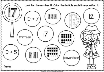 Numbers 1-20 Worksheets {I Spy!}