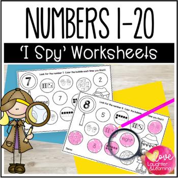 I Spy Numbers 1-20!