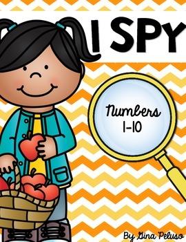 Numbers 1-10 Math Station: I Spy