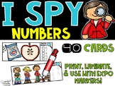 I Spy Numbers 1-20 - Apple & Johnny Appleseed Numbers Math Center