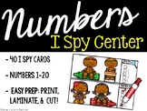I Spy Numbers 1-20 Math Center -  Gingerbread Edition