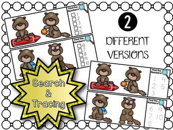 I Spy Numbers 1-20 Math Center - Groundhog Edition