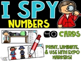 I Spy Numbers 1-20 Math Center - Halloween Edition
