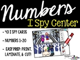 I Spy Numbers 1-20 Math Center - Winter Edition