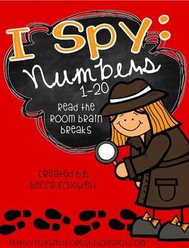 I Spy: Numbers 1-20 {Read the Room Brain Breaks}