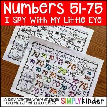 I Spy Numbers 51-75
