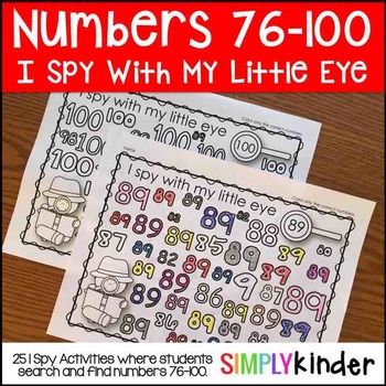 I Spy Numbers 76-100