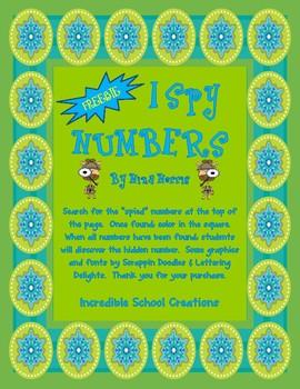 I Spy Numbers - FREEBIE!!