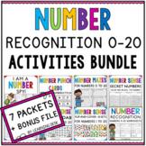 Numbers Sense Recognition 1-20 Worksheets Activities Kindergarten First Grade