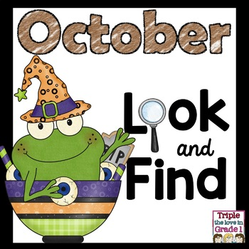 """""""I Spy"""" - October Edition (October Words, Sight Words, -ick Words)"""
