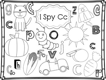 I Spy Phonemic Awareness Sample